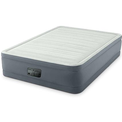 Надувне ліжко Intex 64906, 152 х 203 х 46 см, вбудований електронасос. Двоспальне
