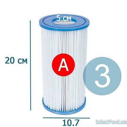 Змінний картридж для фільтр насоса Intex 29000-3 тип «А» 3 шт, 20 х 10.7 см
