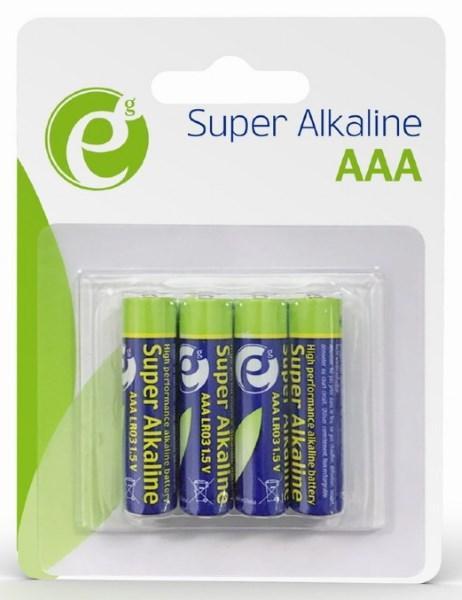 Батарейка AAA EnerGenie EG-BA-AAA4-01 LR03/AAA (4 шт.) блістер (код 110279)