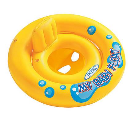 Intex надувний круг 59574 «Мій малюк», серія «Школа плавання», з трусиками, 67 см
