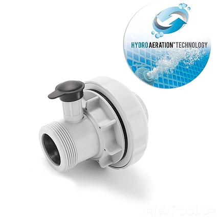 """З'єднувач з """"Гідро-Аерацією"""" Intex 22371 (новий стандарт New) для басейну з отворами (38 мм)"""