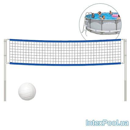 Сітка для волейболу (з кріпленнями і стійками) Intex 58951 для круглих басейнів розмірами 488 см, 549 см, 732