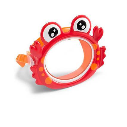 Маска для плавання Intex 55915 «Крабик», розмір S, (3+), обхват голови ≈ 50 см, червона