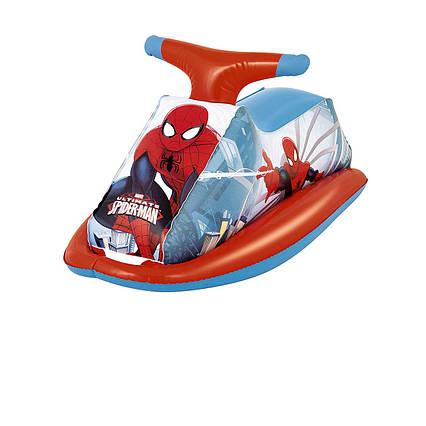 Дитячий надувний пліт для катання Bestway 98012 «Спайдер Мен, Людина-Павук», 89 х 46 см