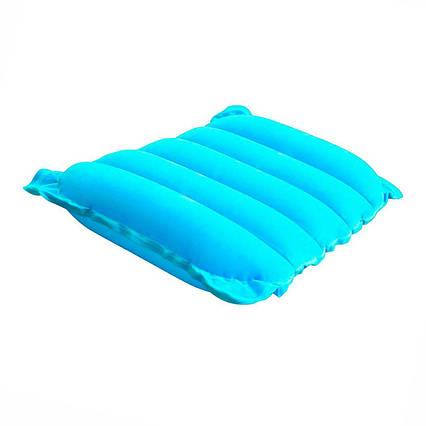Надувна флокірована подушка Bestway 67485, блакитна, 38 х 24 х 9 см