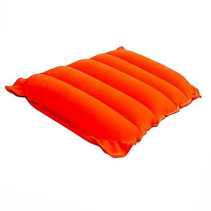 Надувна флокірована подушка Bestway 67485, помаранчева, 38 х 24 х 9 см