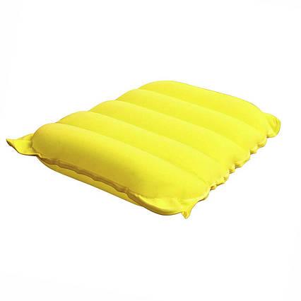Надувна флокірована подушка Bestway 67485, жовта, 38 х 24 х 9 см