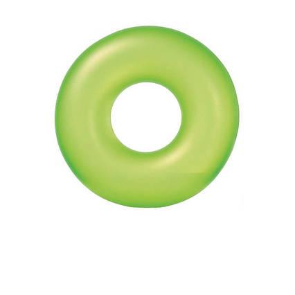 Intex надувний круг 59262 «Неон», 91 см, зелений