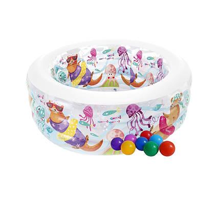Дитячий надувний басейн Intex 58480-1«Акваріум», 152 х 56 см, з кульками 10 шт