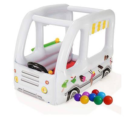 Надувний ігровий центр Bestway 52268 «Фургон з морозивом», 122 х 84 х 84 см, з кульками 10 шт