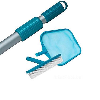 Набір 3в1 Intex 29050/52/54: Сачок, щітка з телескопічною ручкою і для очищення верхнього шару води (діаметр