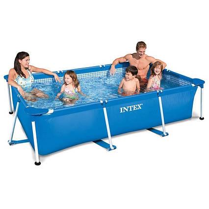 Каркасний басейн Intex 28270 - 2, 220 х 150 х 60 см (тент, підстилка)