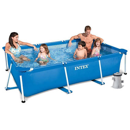 Каркасний басейн Intex 28270 - 3, 220 х 150 х 60 см (2 006 л/год, тент, підстилка)