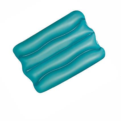 Надувна вінілова подушка Bestway 52127, блакитна, 38 х 25 х 5 см