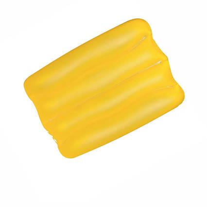 Надувна вінілова подушка Bestway 52127, жовта, 38 х 25 х 5 см