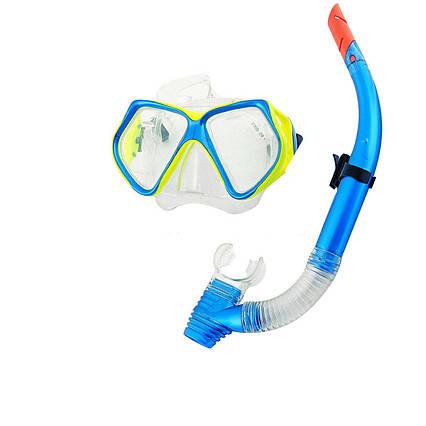 Набір 2 в 1 для плавання Bestway 24003 (маска: розмір XXL, (14+), обхват голови ≈ 59 см, трубка), блакитна