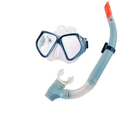 Набір 2 в 1 для плавання Bestway 24003 (маска: розмір XXL, (14+), обхват голови ≈ 59 см, трубка), сірий