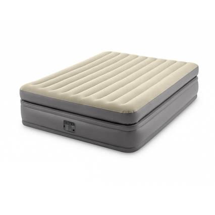 Надувне ліжко Intex 64164, 152 х 203 х 51 см, вбудованим електронасос. Двоспальне