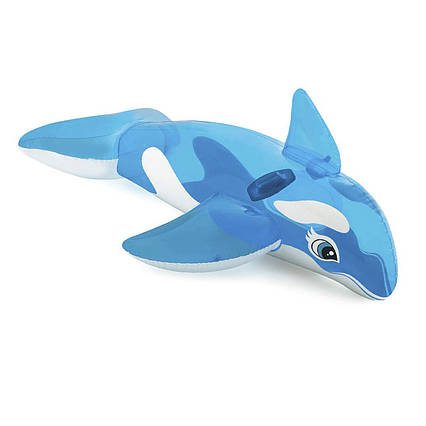 Дитячий надувний пліт для катання Intex 58523 «Дельфін», 152 x 114 см