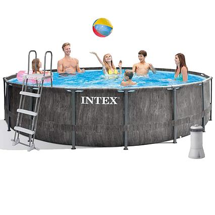 Каркасний басейн Intex 26742, 457 x 122 см (3 785 л/год, сходи, тент, підстилка)