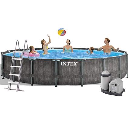 Каркасний басейн Intex 26744, 549 x 122 см (5 678 л/год, сходи, тент, підстилка)
