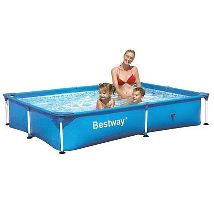 Каркасний басейн 56401, 221 х 150 х 43 см, блакитний