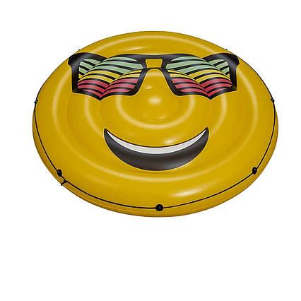 Пляжний надувний матрац для плавання Bestway 43139 «Emoji», 188 см