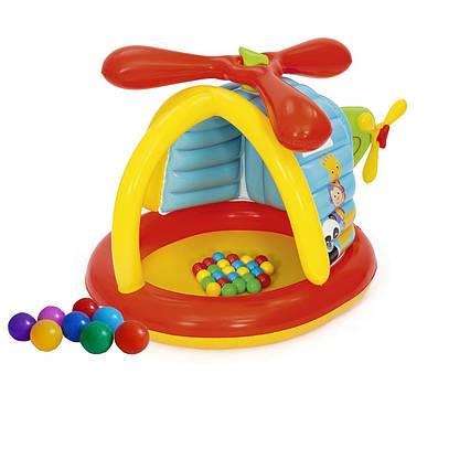 Надувний ігровий центр Bestway 93538 «Вертоліт», 155 х 102 х 91 см, з кульками 25 шт