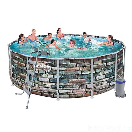 Каркасний басейн 56993, 427 х 122 см (3 028 л/год, сходи, тент, дозатор)