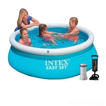 Надувний басейн Intex 28101 - 3, 183 х 51 см (2 006 л/год, тент, підстилка, насос)