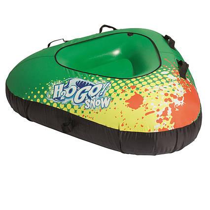 Одномісний надувний сани - тюбінг для катання Bestway 39053, 142 см, зелений
