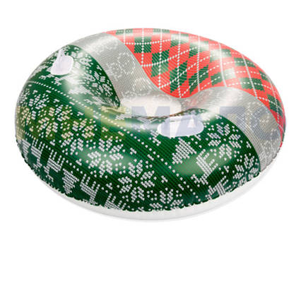 Одномісний надувний сани - тюбінг для катання Bestway 39060, 127 см, зелений