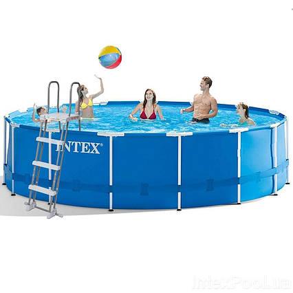 Каркасний басейн Intex 28242 - 1, 457 x 122 см (тент, підстилка, сходи)