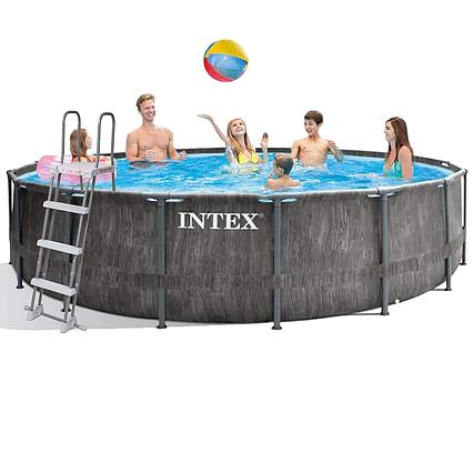 Каркасний басейн Intex 26742 - 1, 457 x 122 см (тент, підстилка, сходи)