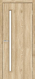 Двері міжкімнатні Оміс Техно T 01 скло сатин NL дуб Саванна, 700