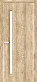 Двері міжкімнатні Оміс Техно T 01 скло сатин NL дуб Саванна, 900