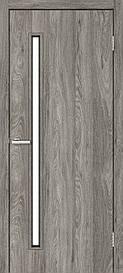 Двері міжкімнатні Оміс Техно T 01 скло сатин NL дуб Денвер, 600