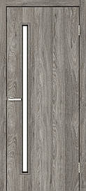 Двері міжкімнатні Оміс Техно T 01 скло сатин NL дуб Денвер, 800