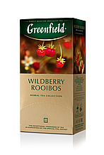 "Чай трав'яний ройбош WILDBERRY ROOIBOS 1,5гх25шт. ""Greenfield"" , пакет"