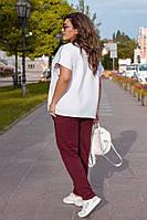 Жіночий спортивний костюм футболка і штани Батал, фото 1