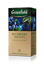 "Чай чорний BLUBERRY NIGHTS 1,5гх25шт. ""Greenfield"" , пакет"