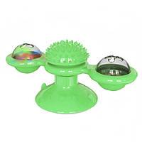 Игрушка для котов спинер с щеткой для зубов Rotate Windmill Cat Toy
