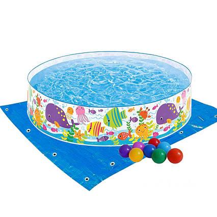 Басейн дитячий надувний Intex 56452-2 «Океан», 183 х 38 см, з кульками 10 шт, підстилкою