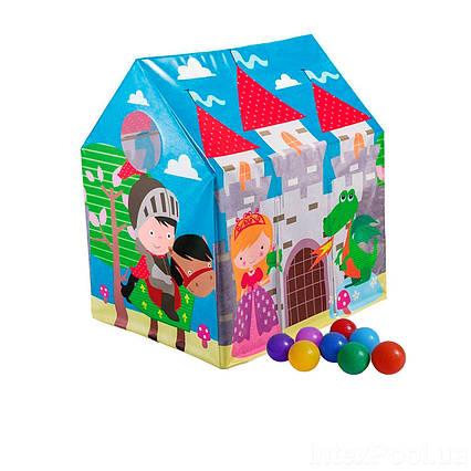 Дитячий ігровий будиночок Intex 45642-1 «Замок», 107 х 95 х 75 см, з кульками 10 шт