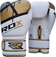 Боксерские перчатки RDX Rex Leather Gold, фото 1