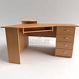 Стіл комп'ютерний кутовий з ящиками СУ-1. Корпусні меблі, фото 7
