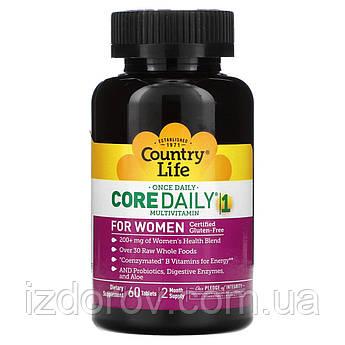 Country Life, Мультивитамины для женщин, Core Daily-1 Multivitamin Women, 60 таблеток