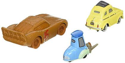 Тачки 3: Маккуїн, Луїджі, Гвідо (Lightning McQueen , Luigi & Guido) Disney Pixar Cars від Mattel, фото 2