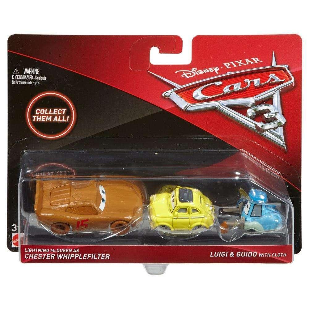 Тачки 3: Маккуїн, Луїджі, Гвідо (Lightning McQueen , Luigi & Guido) Disney Pixar Cars від Mattel