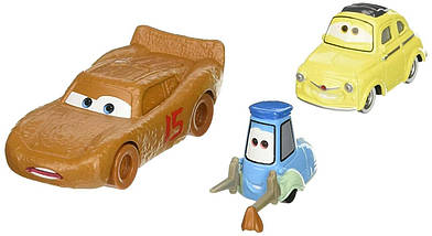 Тачки 3: Маккуїн, Луїджі, Гвідо (Lightning McQueen , Luigi & Guido) Disney Pixar Cars від Mattel, фото 3